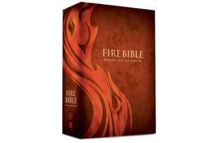 Fire study bible leather